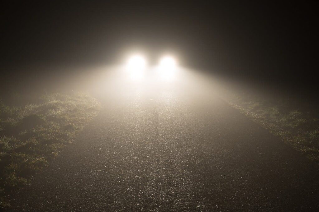 avoid direct contact with headlights